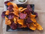 Sweet Potato Beet Chips